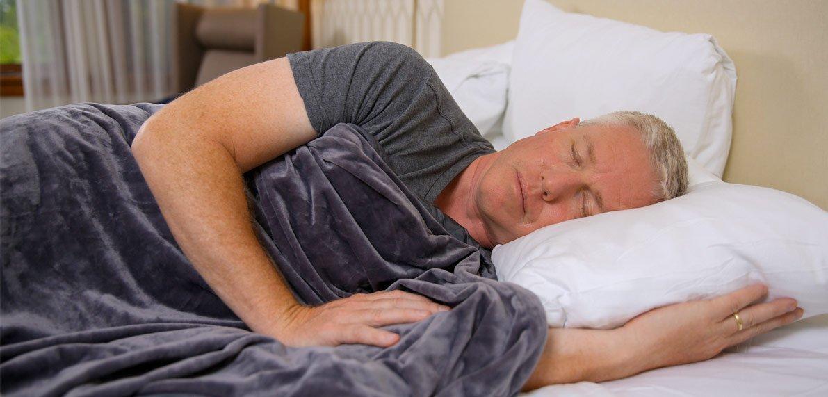 Man sleeping, using Remzy